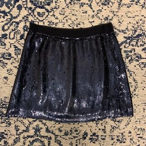 J Crew Collection Blue Sequin Party Mini Skirt